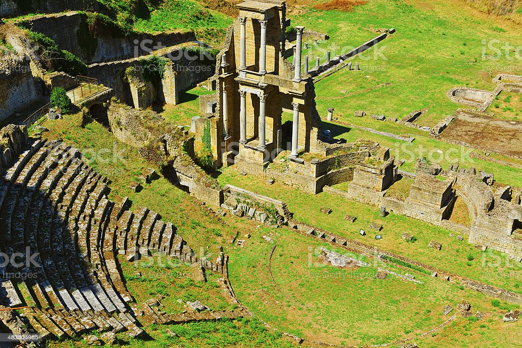 Roman Theater stock photo