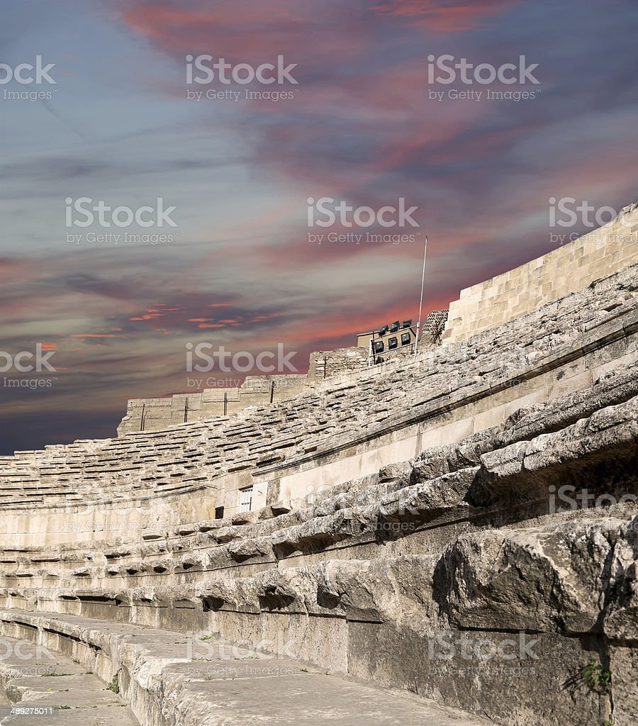Roman Theatre in Amman, Jordan royalty-free stock photo