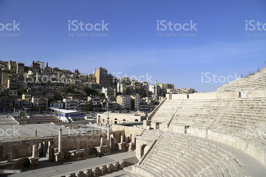 Roman Theatre In Amman Jordan Stock Photo Download Image