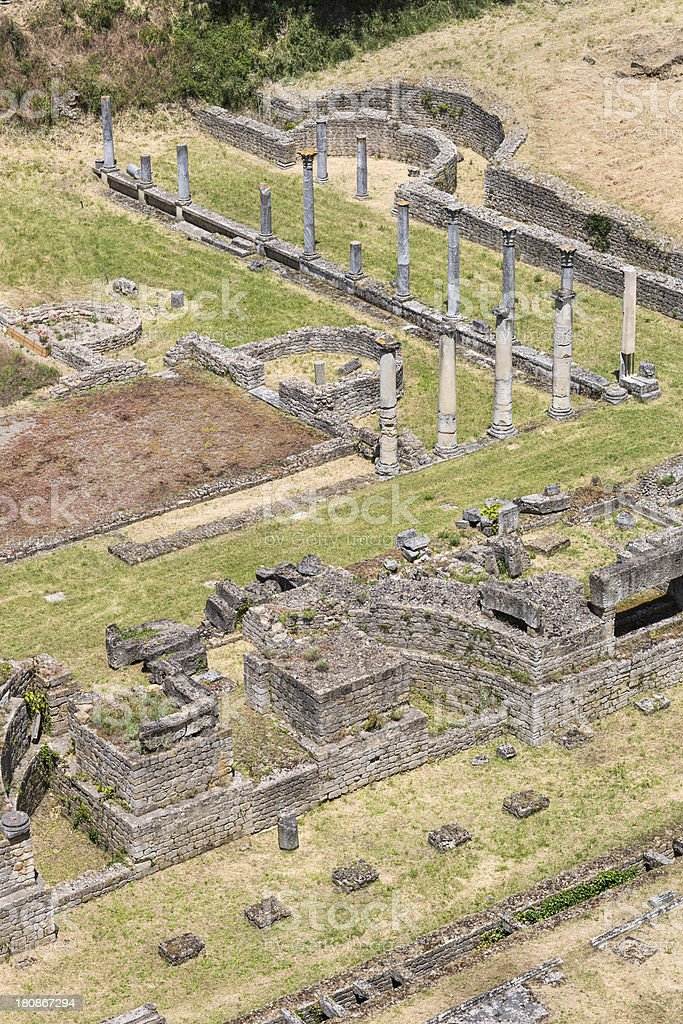 Roman Theatre in Volterra, Tuscany Italy royalty-free stock photo