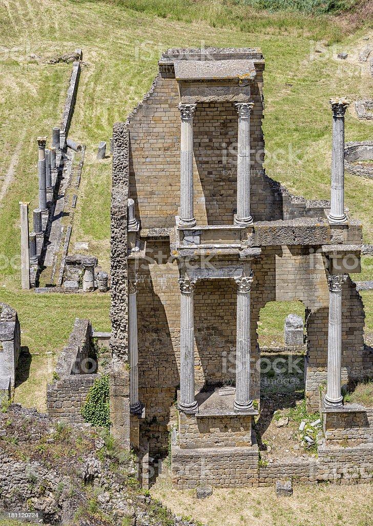 Roman Theatre in Volterra, Tuscany Italy royalty-free stock photo