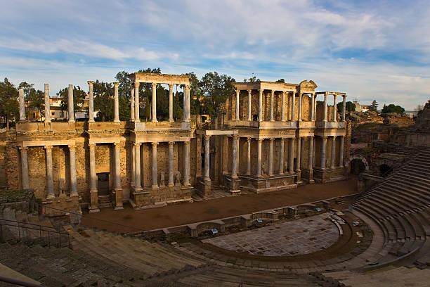 Teatro romano de Mérida - foto de stock