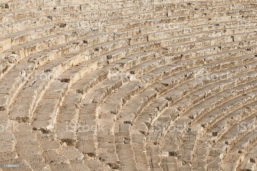 Roman theatre steps royalty-free stock photo