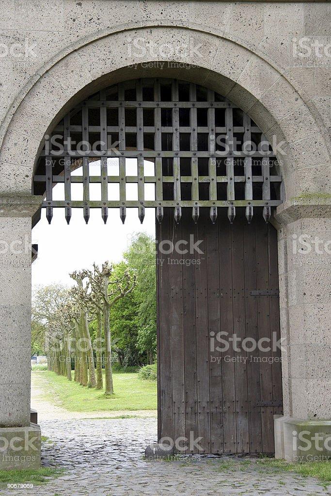 Roman Town Gate royalty-free stock photo