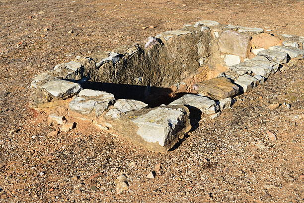Roman vat used for producing Garum sauce stock photo