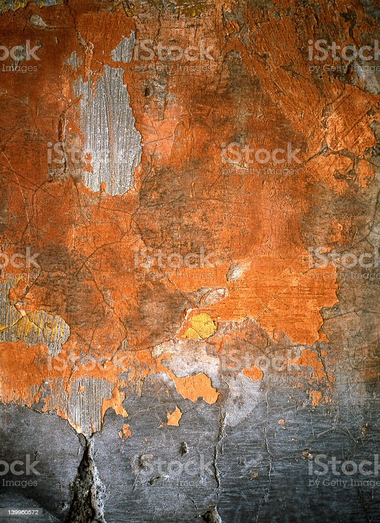 Roman Wall Crumbling royalty-free stock photo