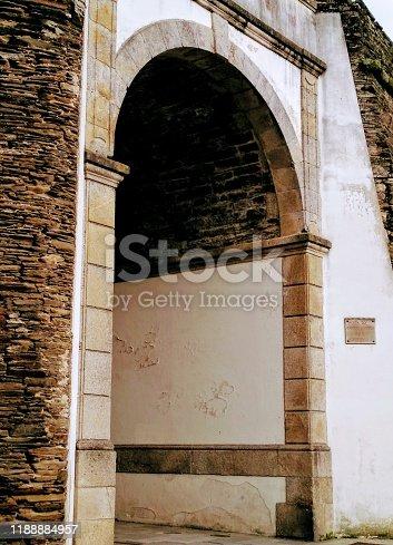 Roman wall doorway,