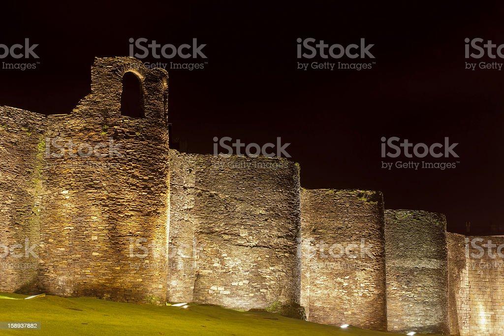 Roman wall in Lugo, Galicia,Spain royalty-free stock photo