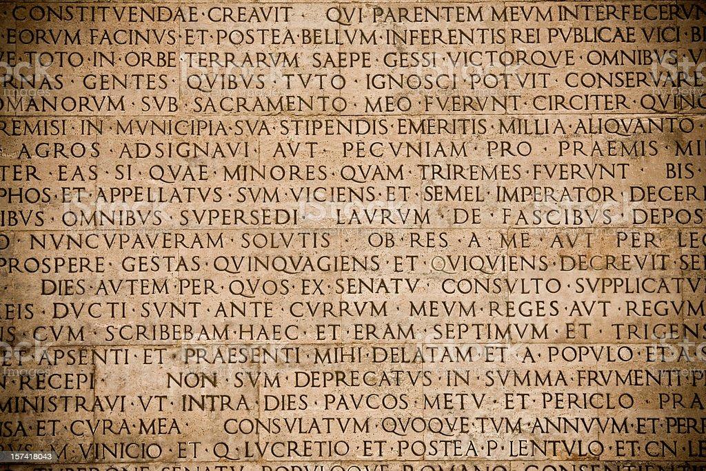 Roman wall royalty-free stock photo