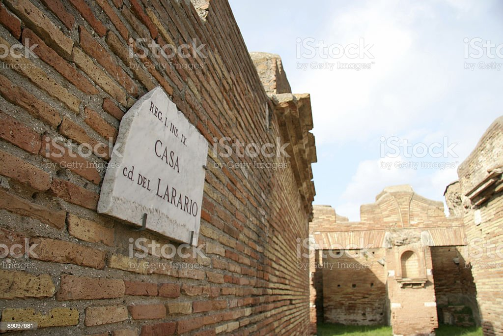 Roman wall royalty-free stock photo