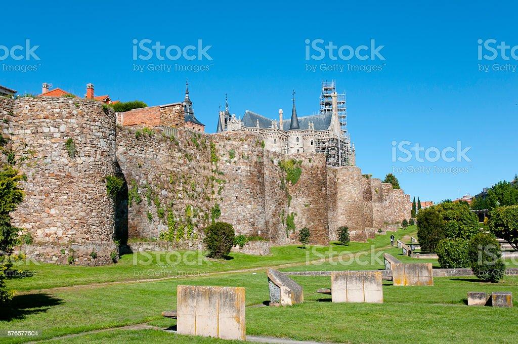 Roman Walls - Astorga - Spain - foto de stock