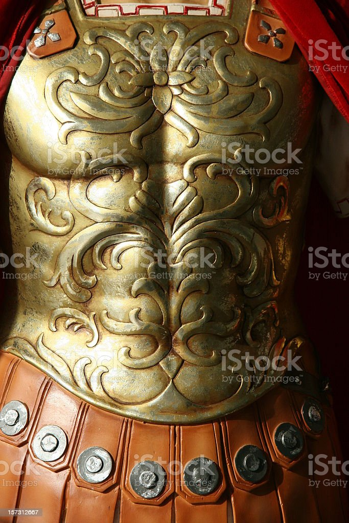 roman warrior stock photo