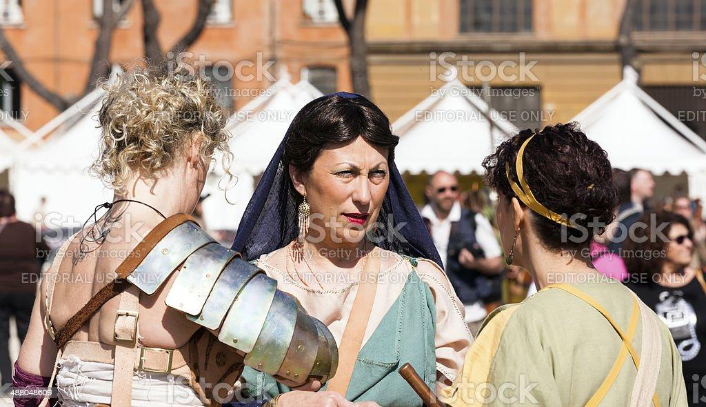 Roman Women stock photo