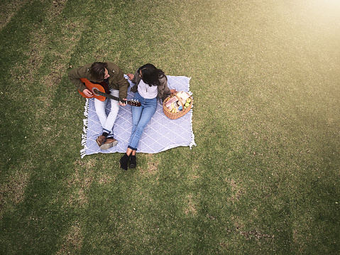 Romance and music in the park