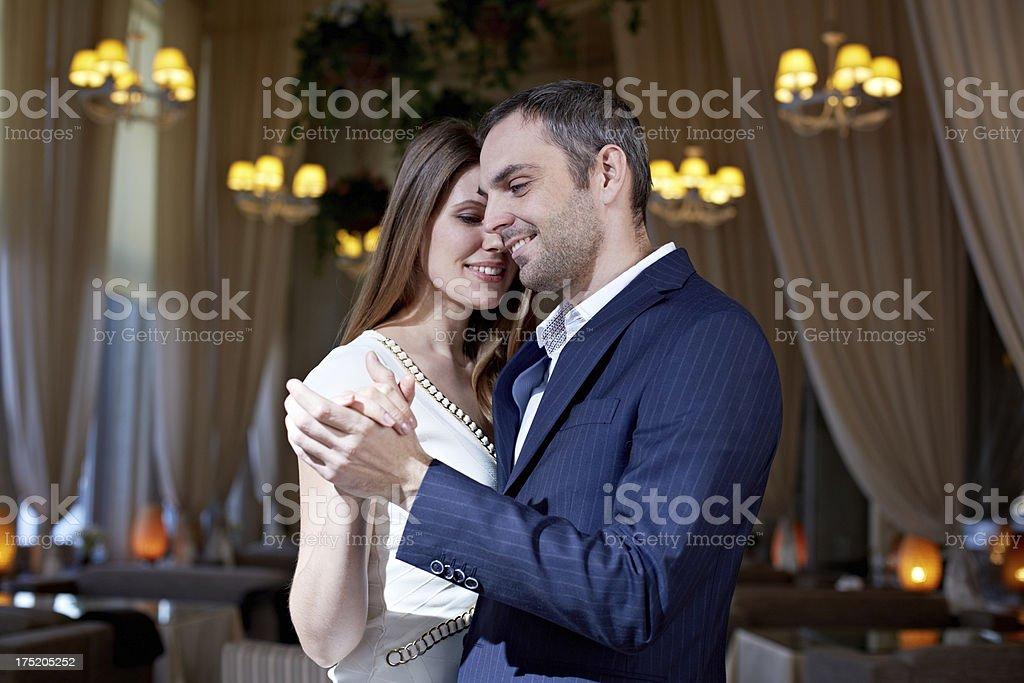 Romance at dance stock photo