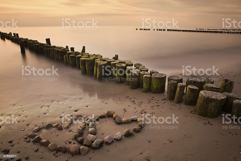 Romance at the beach royalty-free stock photo
