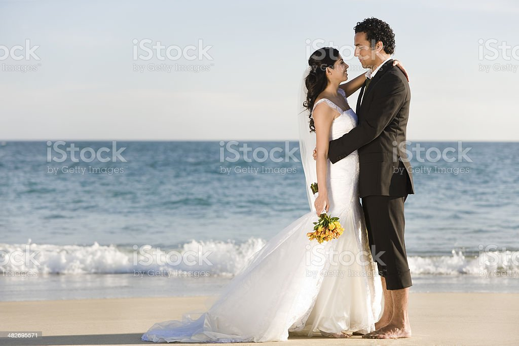 Romance by the beach royalty-free stock photo