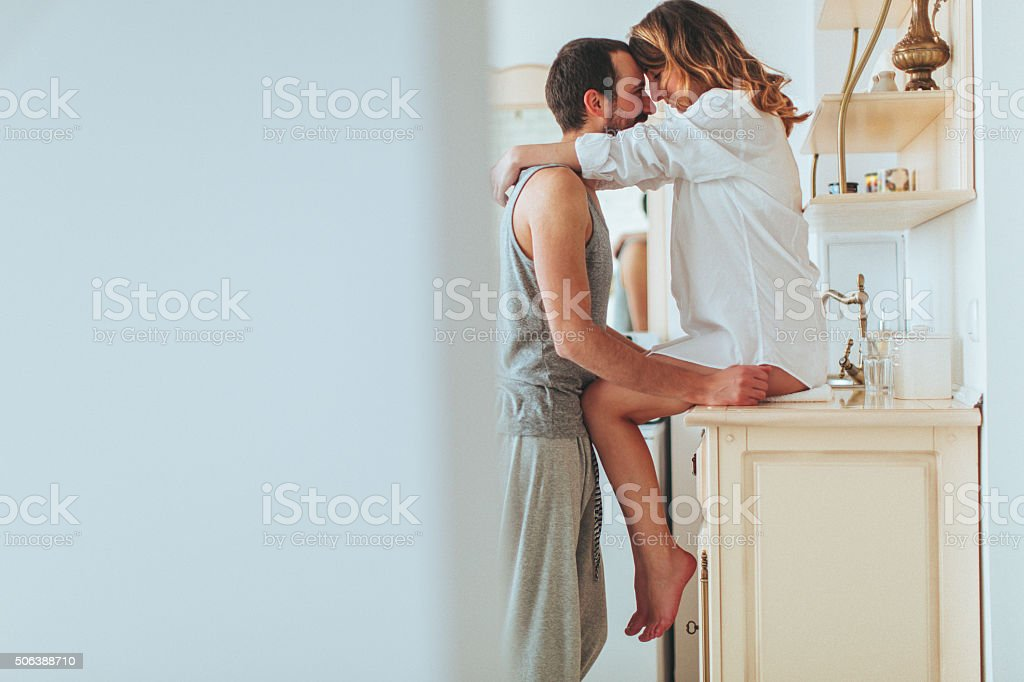 Romance for breakfast - Royalty-free Aanrecht Stockfoto