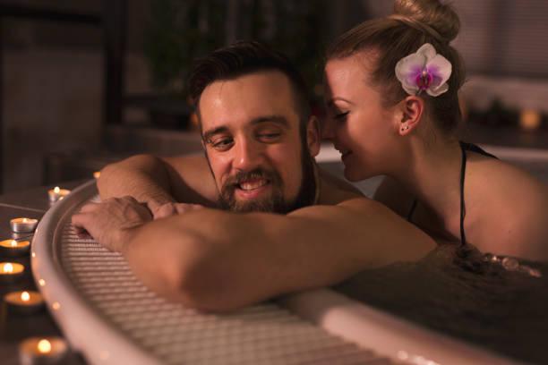 Bathtub Romance Couple Candle Stock Photos, Pictures ...