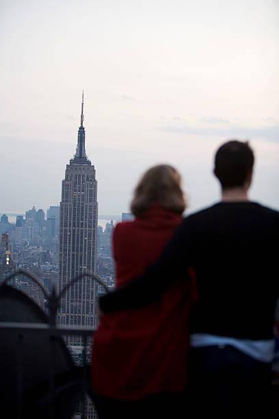 Romance In New York stock photo