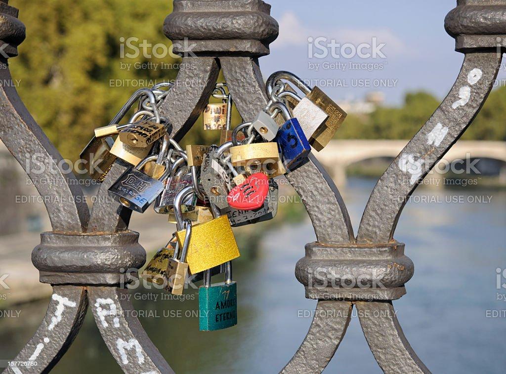 Romance in Rome - Symbols of Love stock photo
