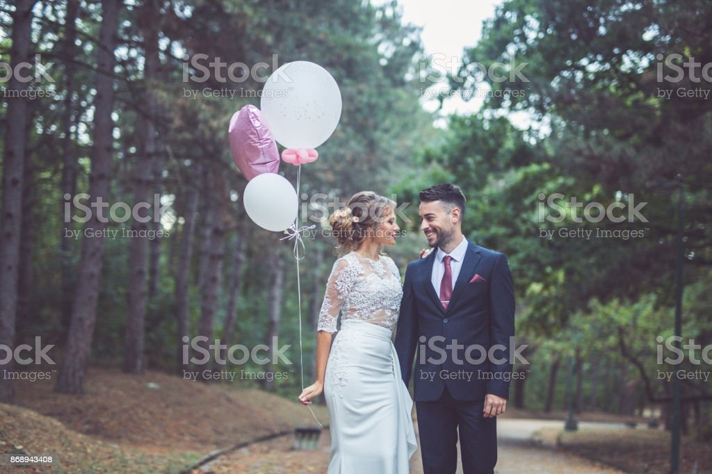 Romance in the park stock photo