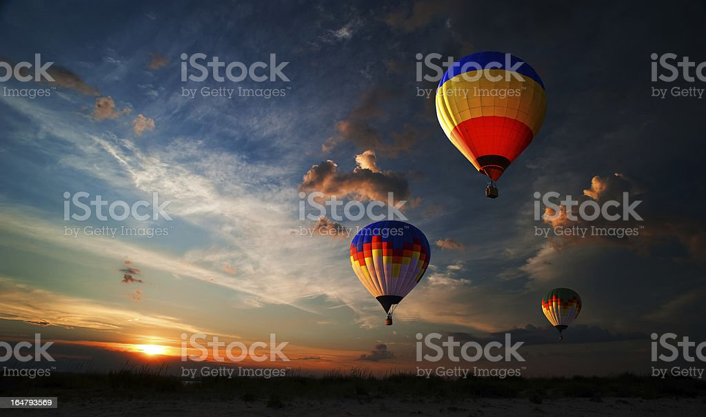 Romance of the flight stock photo