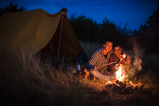 Romance On Camping Stock Photo - Download Image Now - iStock