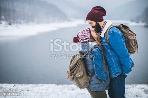 istock Romance on frozen lake 807033660