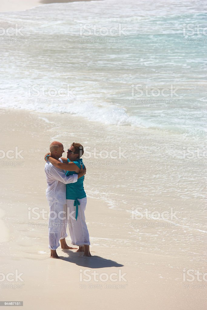 romance on seaside royalty-free stock photo