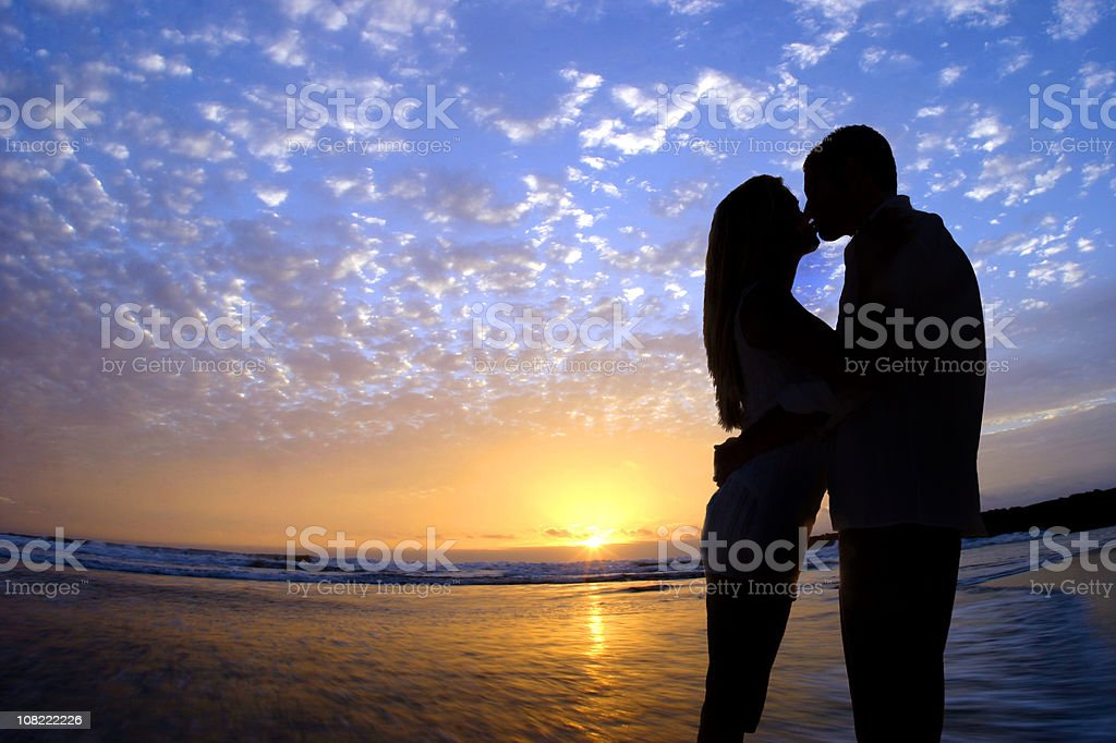 Romance on the Beach royalty-free stock photo