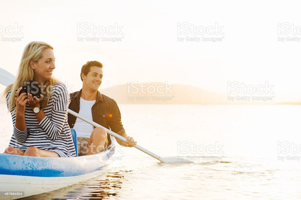 Romance on the row stock photo