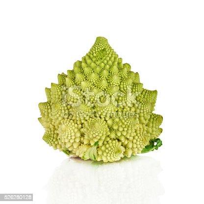 Romanesco broccoli cabbage (or Roman Cauliflower) on wooden background