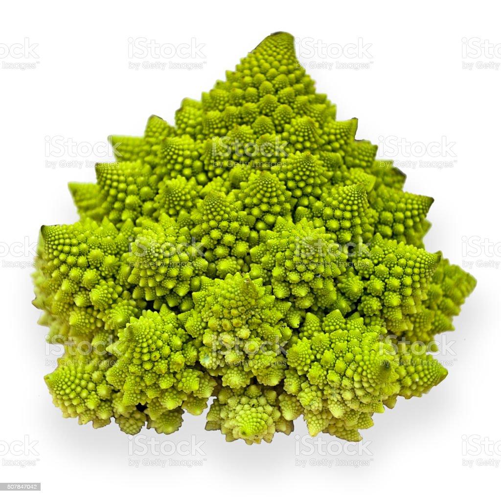 Romanesco Broccoli Exotic Cauliflower stock photo