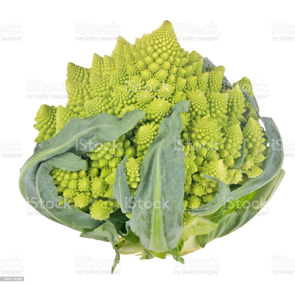Romanesco green broccoli isolated on white royalty-free stock photo