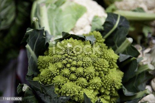 istock Romanesco in greengrocer 1193153609
