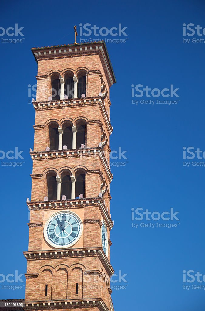 Romanesque Bell Tower stock photo