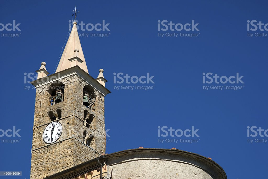 Romanesque bell tower royalty-free stock photo