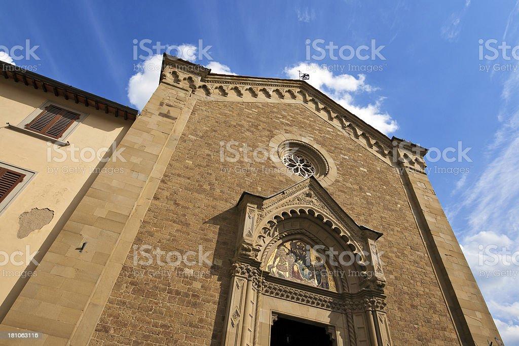 Romanesque church, Arezzo royalty-free stock photo