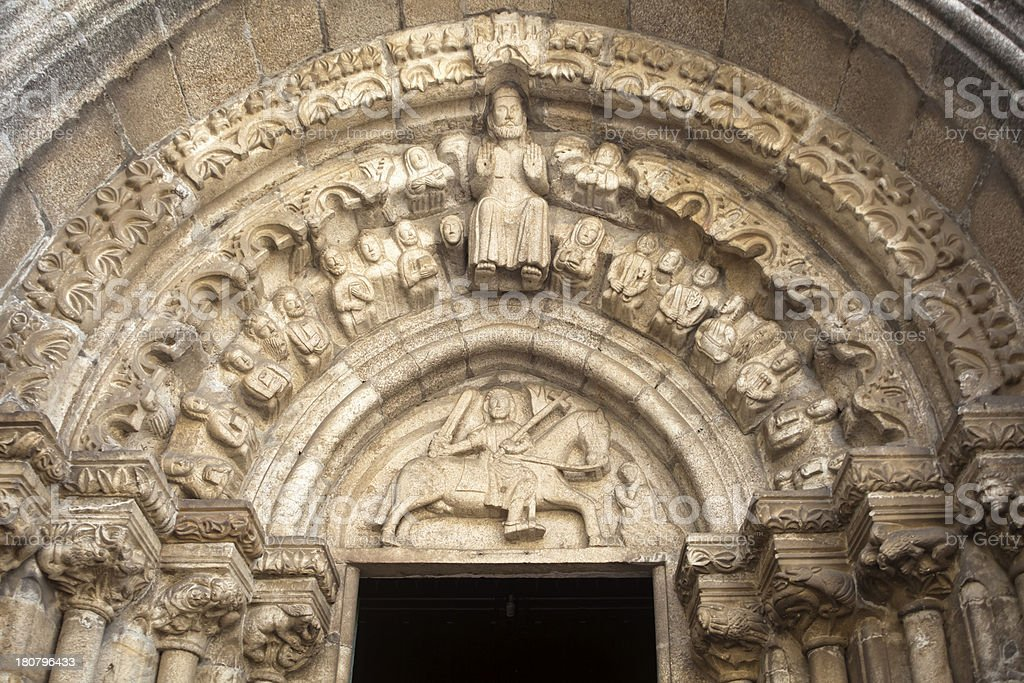 Romanesque church entrance. royalty-free stock photo