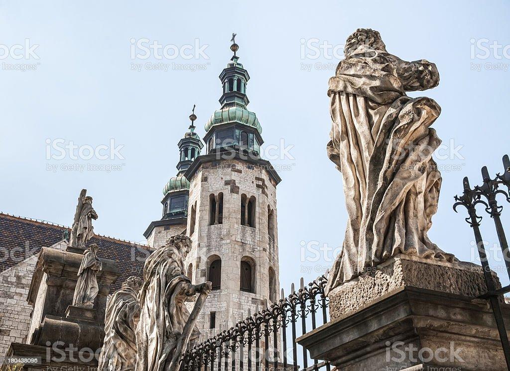 Romanesque church in Krakow royalty-free stock photo