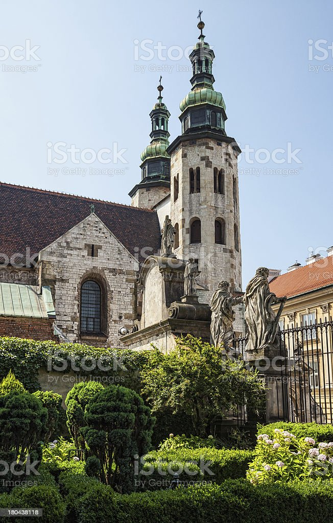 Romanesque church in Krakow royalty-free stock photo