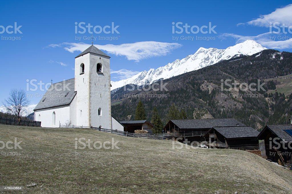 Romanesque Church St. Nikolaus, Matrei, Austria stock photo