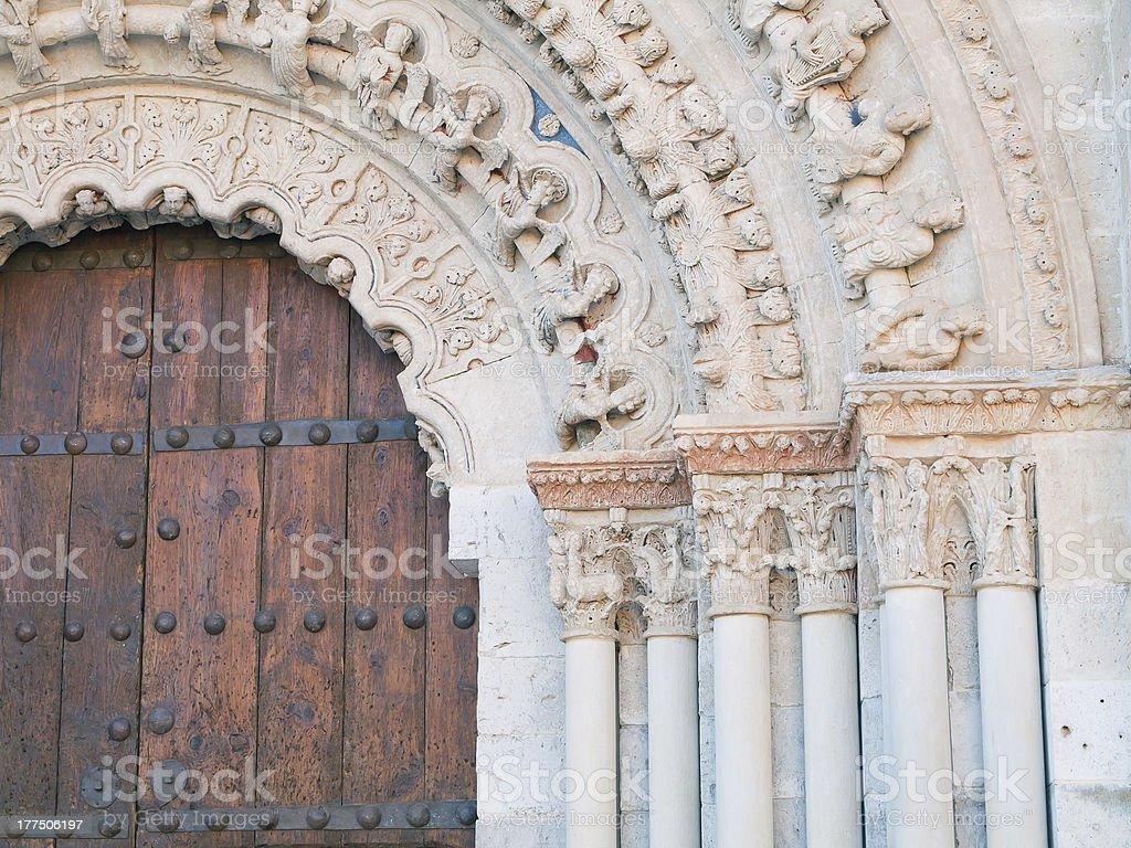 Romanesque detail stock photo