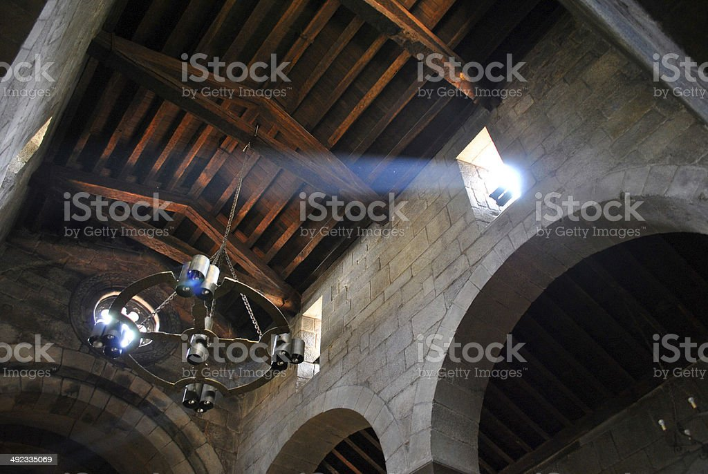 Romanesque lighted ceiling royalty-free stock photo