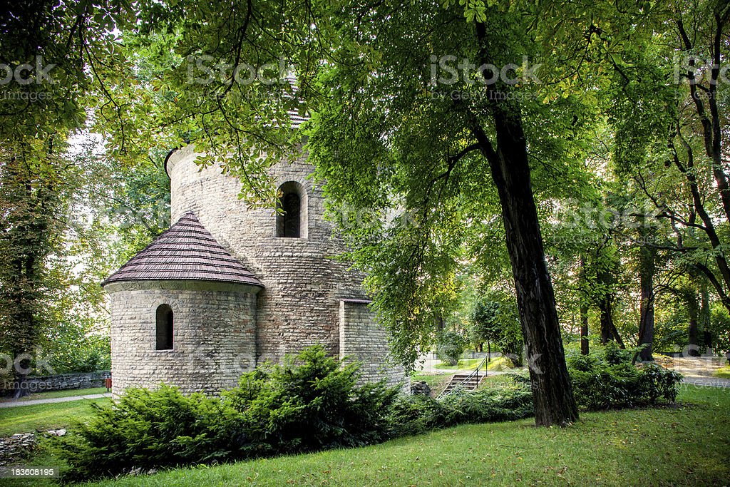 Romanesque St Nicholas Rotunda on Castle Hill in Cieszyn, Poland. royalty-free stock photo