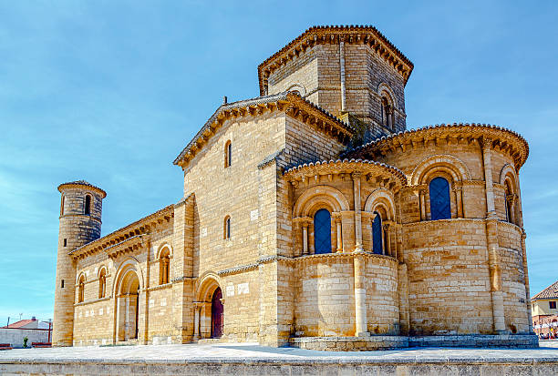 Romanesque style in Fromista, Palencia St. Martin Church, in Romanesque style in Fromista, Palencia, Castilla y Leon, Spain romanesque stock pictures, royalty-free photos & images