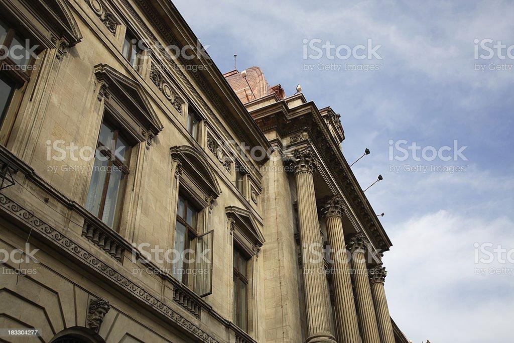 Romania: Bucharest National Bank stock photo