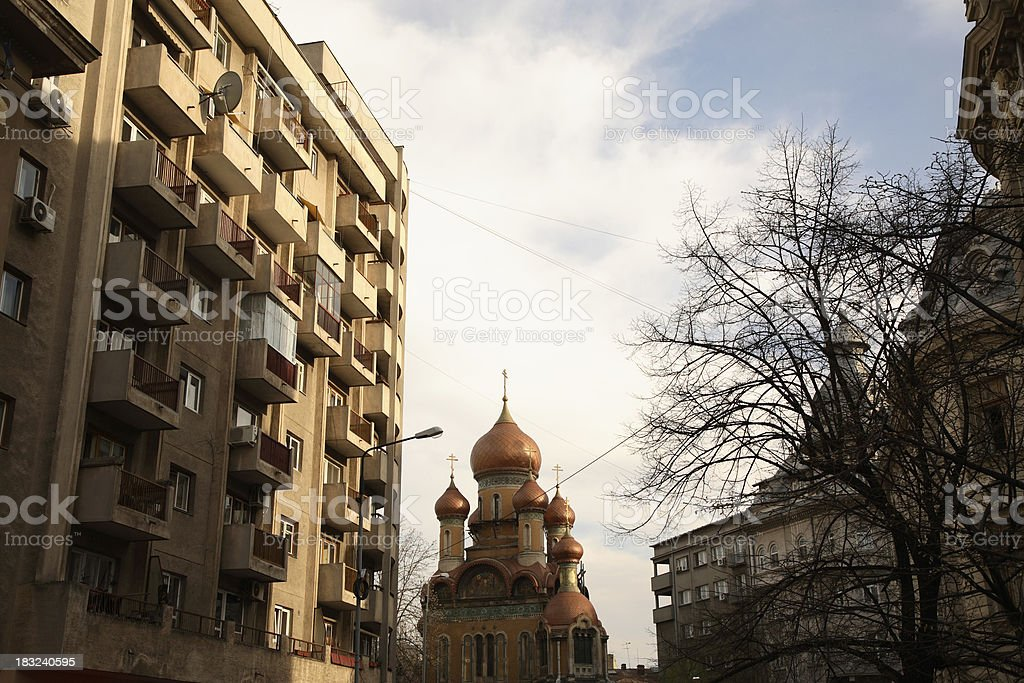Romania: Bucharest Old Town royalty-free stock photo