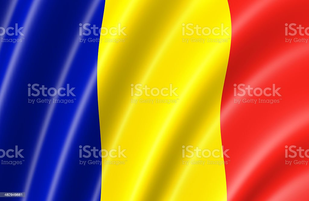 Romania Flag stock photo